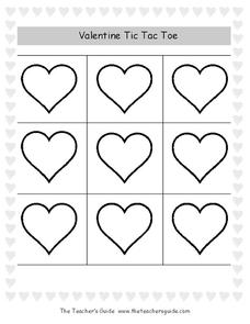 Valentine Tic Tac Toe Activities & Project