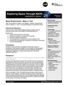 Space Shuttle Ascent: Mass vs. Time Lesson Plan