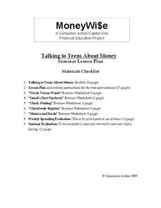 Talking to Teens About Money Lesson Plan