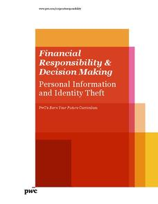 Finanacial Responsibility and Decision Making: Personal Information and Identity Theft Lesson Plan