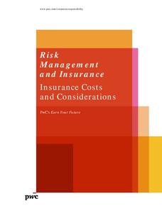 Risk Management and Insurance: Insurance Costs and Considerations Lesson Plan