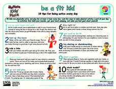 MyPlate Be a Fit Kid Handouts & Reference