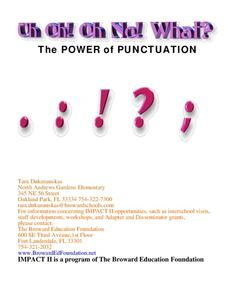 The Power of Punctuation Worksheet
