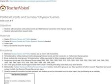 Political Events and Summer Olympic Games Lesson Plan