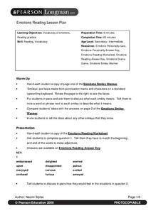 Emotions Reading Lesson Plan