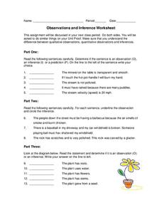 Inference Worksheet For 4th 6th Grade