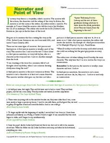 Point Of View Worksheets For 5th Grade - Checks Worksheet
