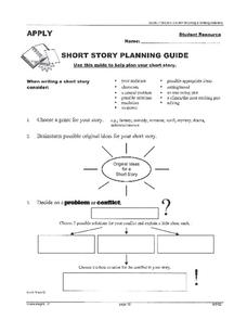 Short Story Planning Guide 6th - 9th Grade Worksheet | Lesson Planet