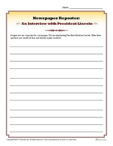 An Interview with President Lincoln Worksheet