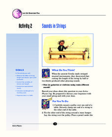 Sounds in Strings Activities & Project