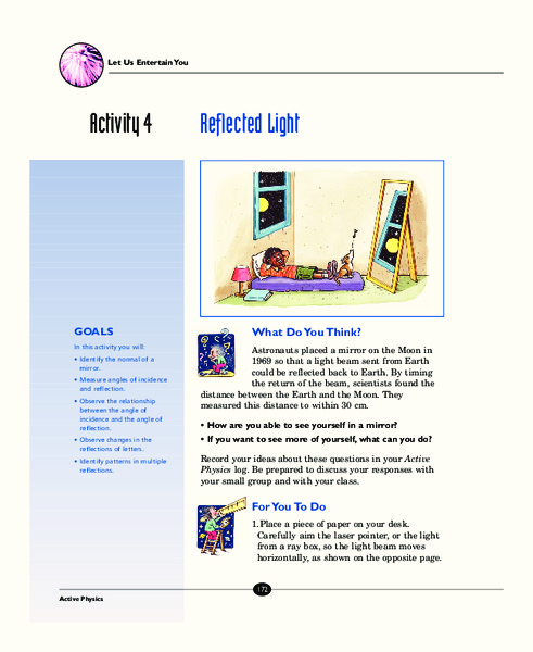 Reflected Light Activities & Project