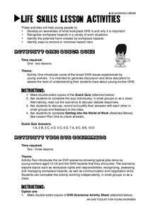 hazards in the workplace lesson plans worksheets. Black Bedroom Furniture Sets. Home Design Ideas