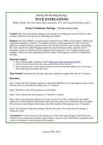 Tuck Everlasting: Frayer Vocabulary Strategy 4th - 7th Grade ...