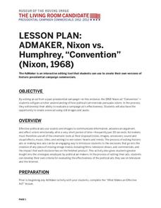 "AdMaker, Nixon vs. Humphrey, ""Convention"" (1968) Lesson Plan"