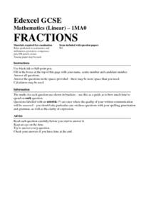 Fractions of an Amount Assessment