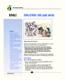 States of Matter: Solid, Liquid, and Gas Worksheet