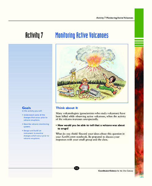 Monitoring Active Volcanoes Activities & Project