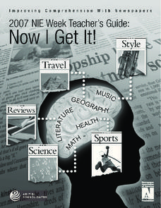 Now I Get It!—Improving Comprehension with Newspapers Unit