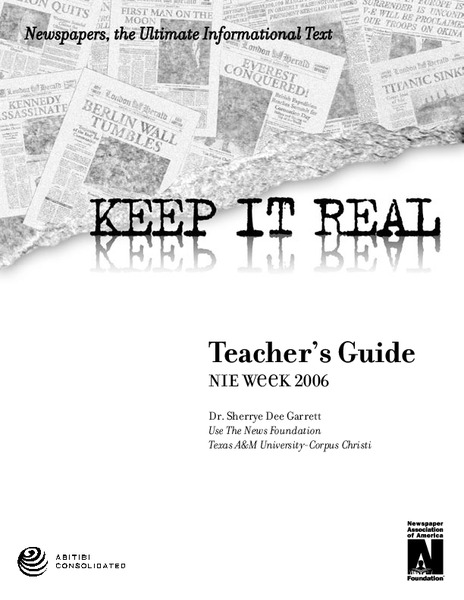 Keep It Real—Newspapers, the Ultimate Informational Text