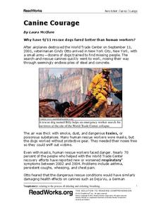 Canine Courage Worksheet