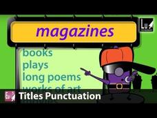 Titles Punctuation Song Video