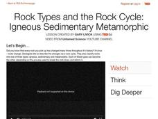 Rock Types and the Rock Cycle: Igneous Sedimentary Metamorphic Video