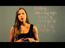 Introduction to Adding and Subtracting Integers: Algebra and Other Math Lessons Video