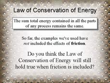 Law of Conservation of Energy Presentation