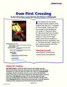 "From ""First Crossing"" Lesson Plan"