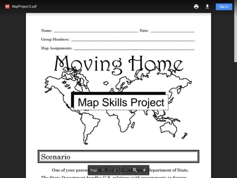 Moving Home: A Map Skills Project Activities & Project
