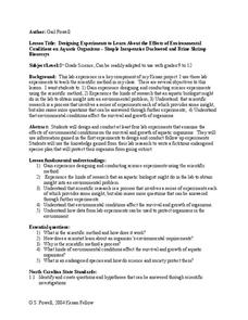 The Effects of Environmental Conditions on Aquatic Organisms Lesson Plan