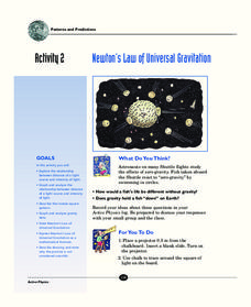 Newton's Law of Universal Gravitation Activities & Project