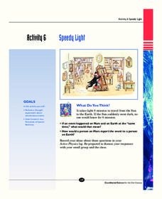 Speedy Light Activities & Project