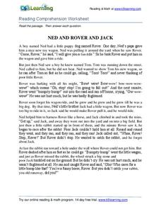 Ned and Rover and Jack Worksheet
