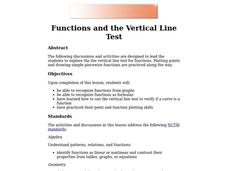 Functions and the Vertical Line Test Lesson Plan