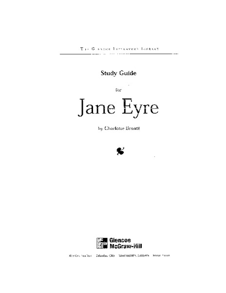 Study Guide for Jane Eyre Unit