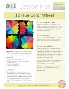 12 Hue Color Wheel Lesson Plan