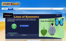Study Jams! Lines of Symmetry Interactive