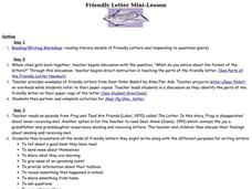Friendly Letter Mini-Lesson Lesson Plan