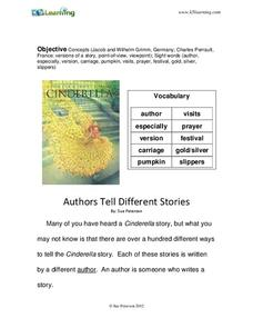 Authors Tell Different Stories Worksheet