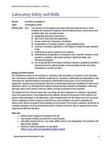 Lab Safety Lesson Plans Worksheets