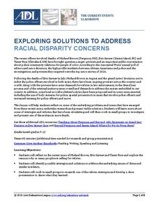 Exploring Solutions to Address Radical Disparity Concerns Lesson Plan