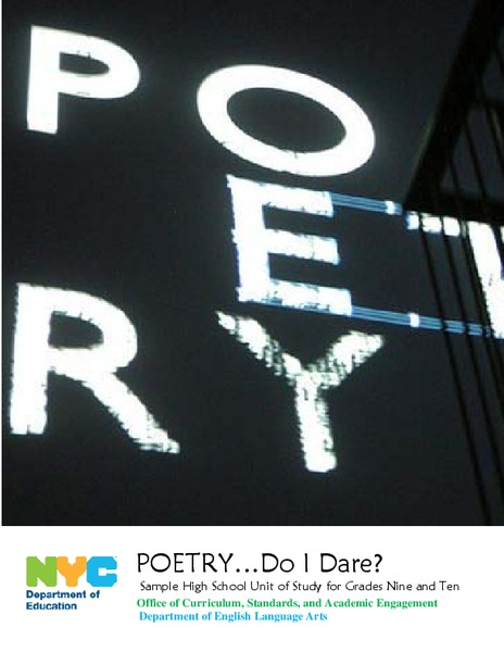 Poetry…Do I Dare? Unit