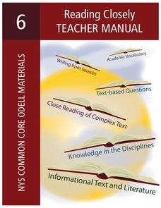 Reading Closely Teacher Manual Unit
