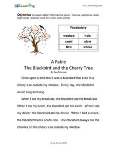 The Blackbird and the Cherry Tree Worksheet