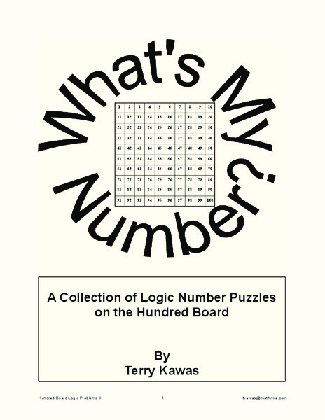 A Collection of Logic Number Puzzles on the Hundred Board Learning Game