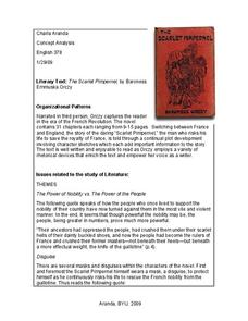 The Scarlet Pimpernel: Concept Analysis Professional Document
