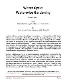 Water Cycle: Waterwise Gardening Lesson Plan