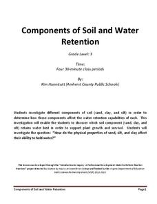 Components of Soil and Water Retention Lesson Plan