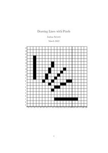 Drawing Lines with Pixels Activities & Project